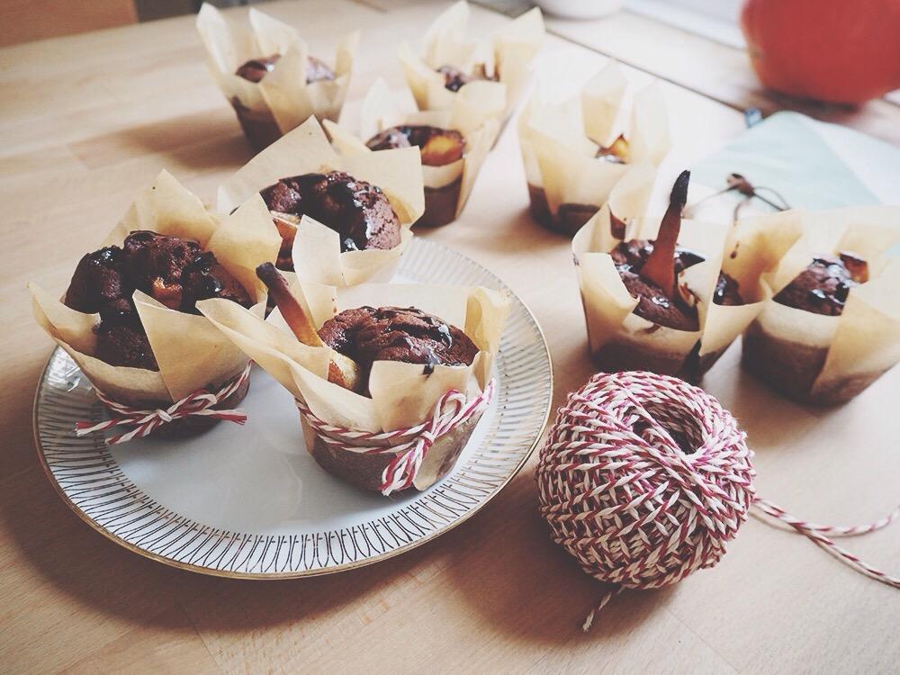 backvergn gen birnen schokoladen muffins mit vergn gen. Black Bedroom Furniture Sets. Home Design Ideas