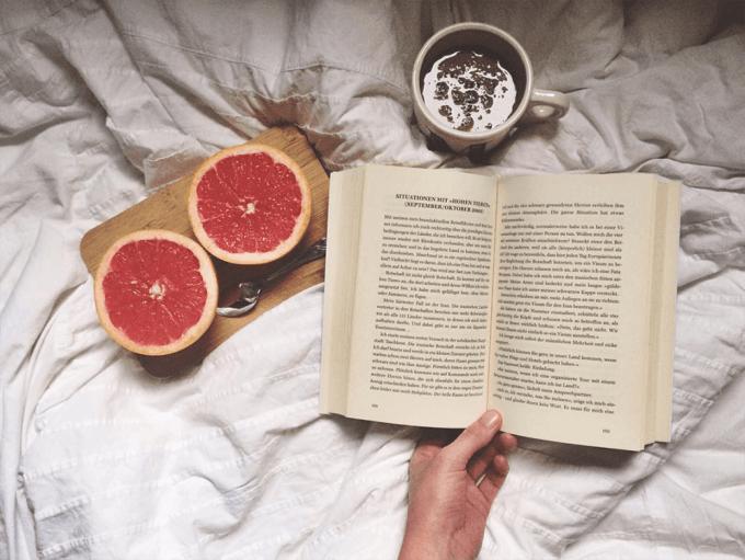 buch-bett-grapefruit-kakao