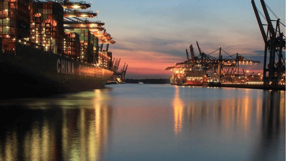 Hafen Hamburg Abend