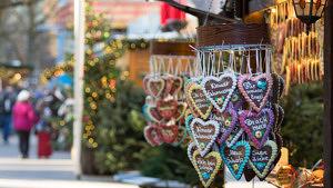 Lebkuchenherzen Weihnachtsmarkt Hamburg