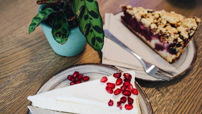 Kuchen im Café Mit Herz und Zucker.